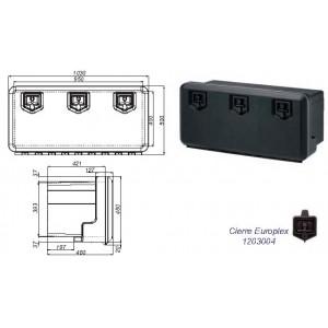 CAJON PLASTICO 1030X500X480 (3 CIERRES)