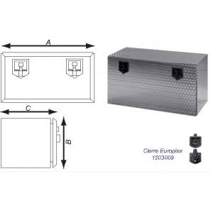 CAJON ACERO INOX.FLOREADO 960/800 mm (2 CIERRES)