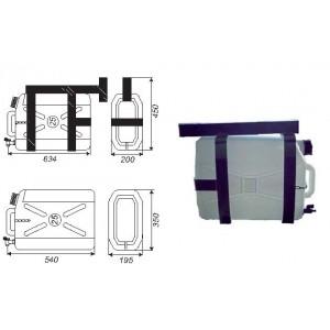 BIDON RECTANGULAR 25 L (635X200X450)