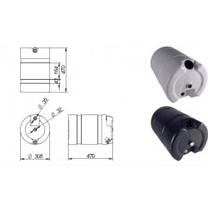 BIDON PLASTICO 30 L  ( 470 X 305 Diam.)