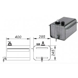 BIDON C/DOSIFICADOR 25 L -INOX-
