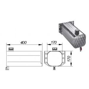 BIDON 10 L ( INOX)  170X170X400
