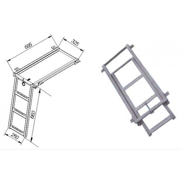 Escalera extraible 3 pelda os innovatrucks - Escalera 3 peldanos ...