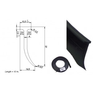 ROLLO PERFIL PVC VERTICAL BOTE ( 10 MTS)