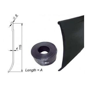ROLLO PERFIL PVC 14 MTS NEGRO EXT