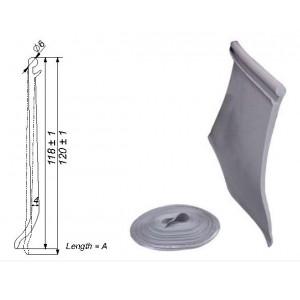 ROLLO PERFIL INTERIOR PVC NEGRO