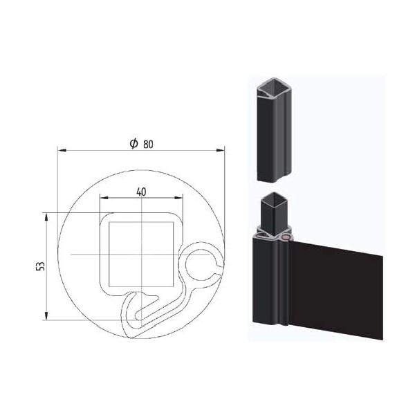 Perfil lona aluminio 3 m innovatrucks for Perfiles de aluminio para toldos de palilleria