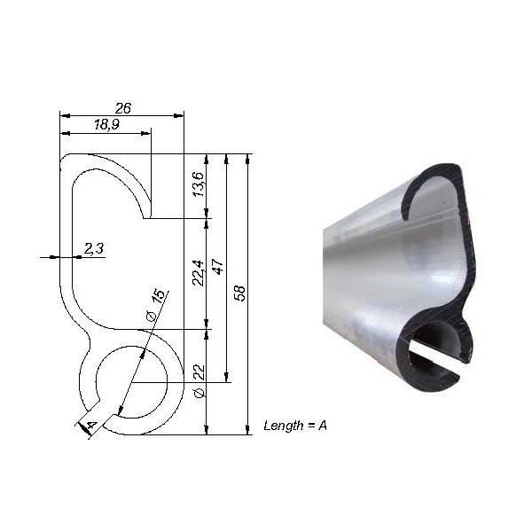 perfil mordiente lona aluminio 58 r7 5 innovatrucks
